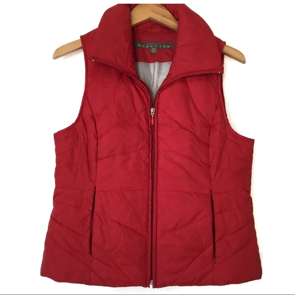 Kenneth Cole Reaction Red Puffer VEST Size M